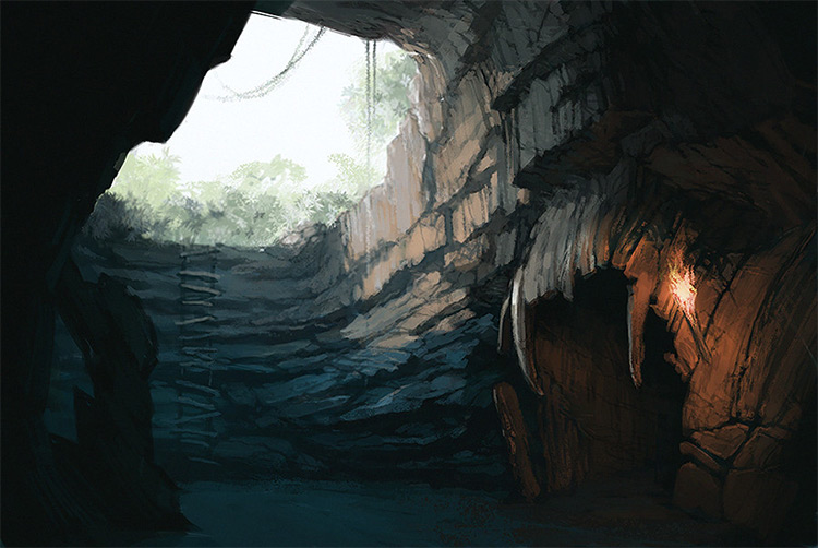 small cave environment