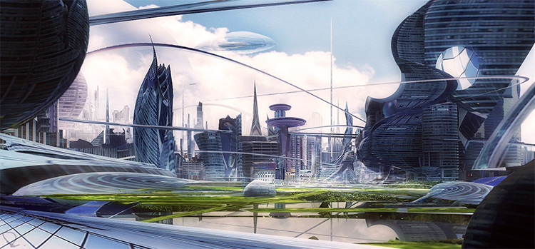 Glass-based cityscape design