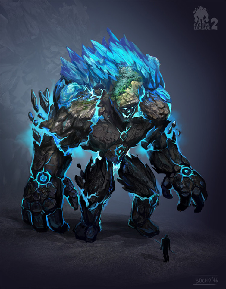 Earth and Ice Golem Concept