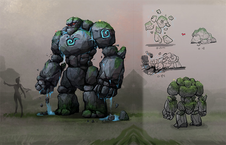 Guardian Of The Valley Golem Concept Art