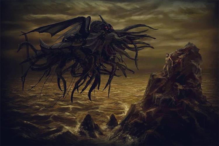 Ctulu styled apparition creature