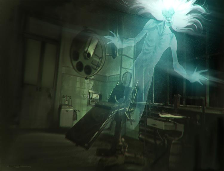 Asylum room entity ghost creature