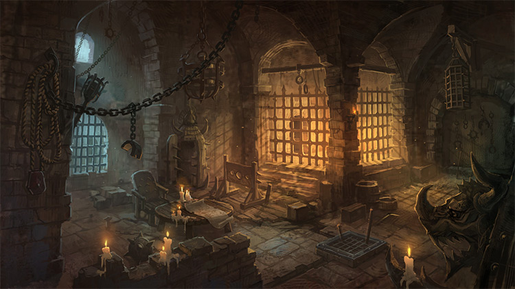 underground prisons environment art