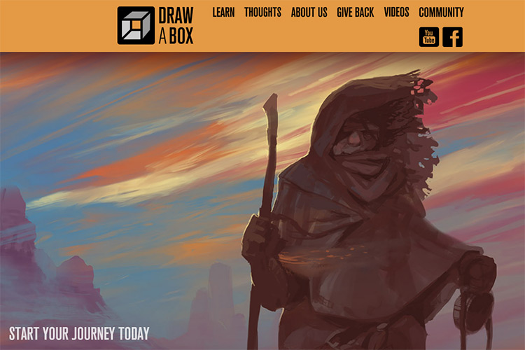 drawabox homepage