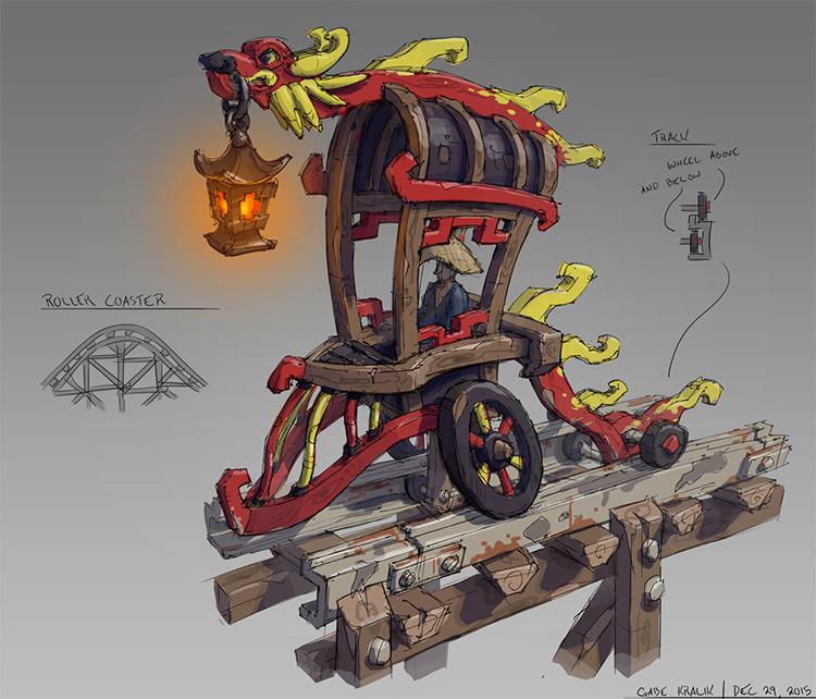 coaster cart prop concept art
