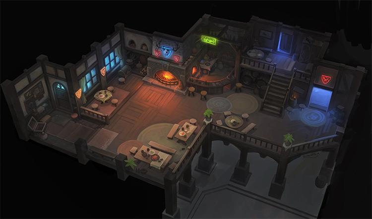 see through walls inn main room