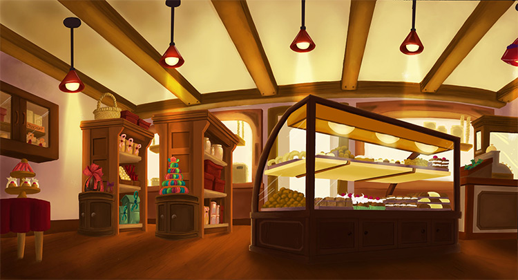 bakery shop interior art