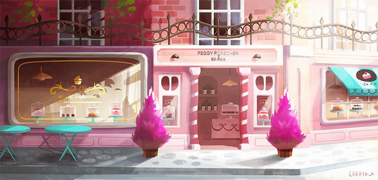 storefront exterior cake shop concept