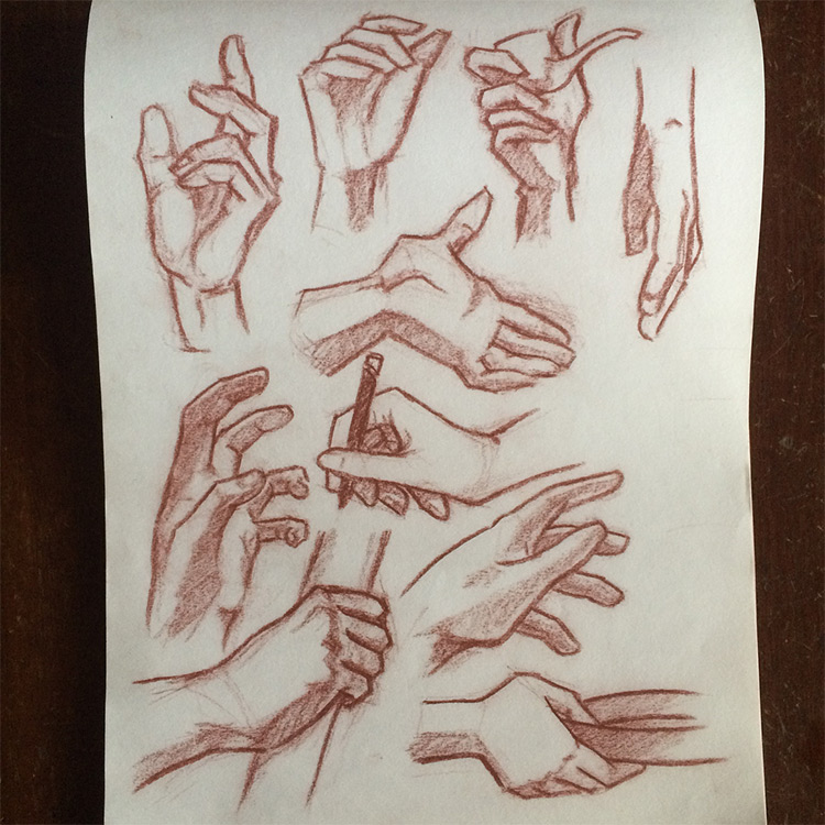 Detailed hand poses inspiration
