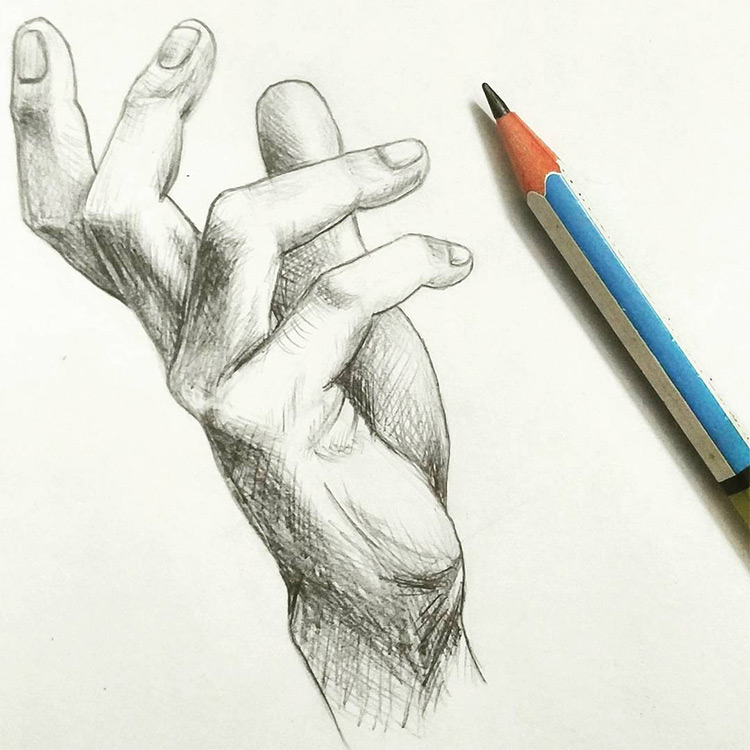 Hand drawing with shading