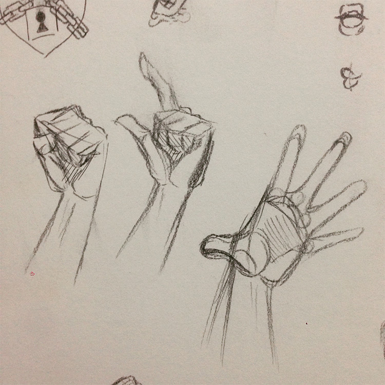 Quick sketches hand poses