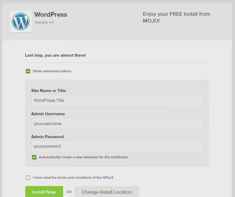 advanced settings for wordpress
