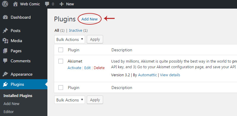 add new plugin button
