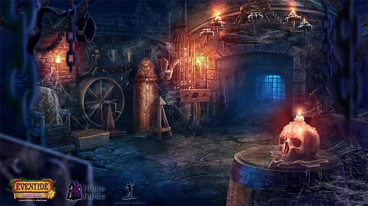 medieval dungeon interior concept art
