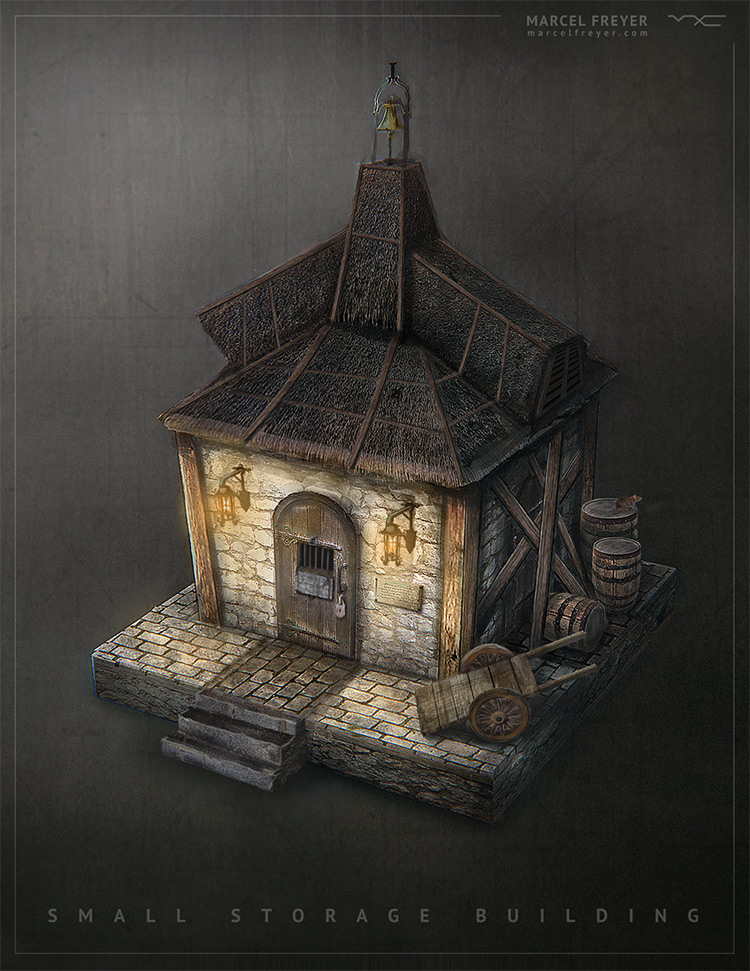 small medieval storage building