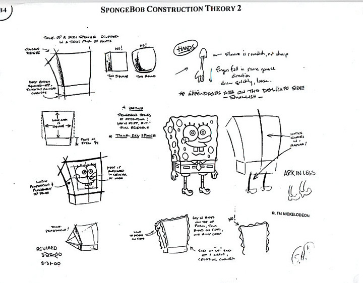 spongebob model sheet nickelodeon