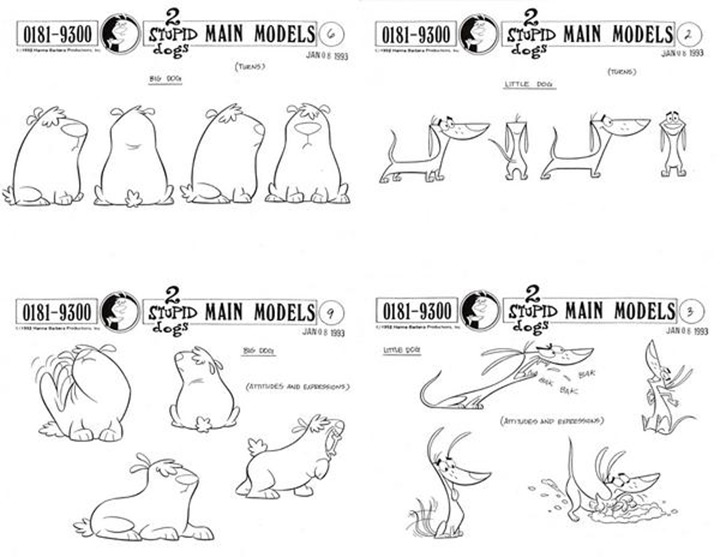 2 stupid dogs model sheet
