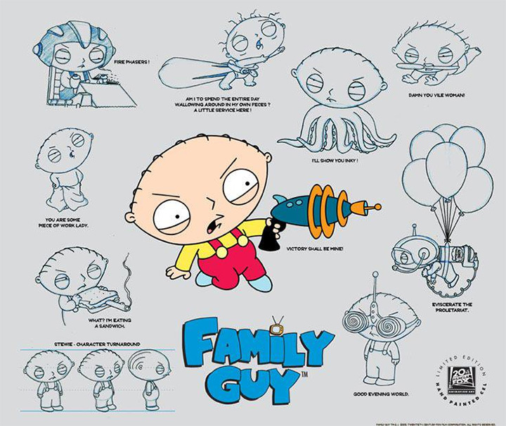 stewie griffin model sheet