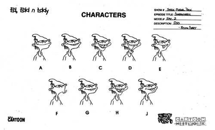 double d cartoon network model sheet