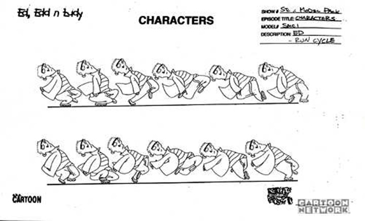 ed running model sheet