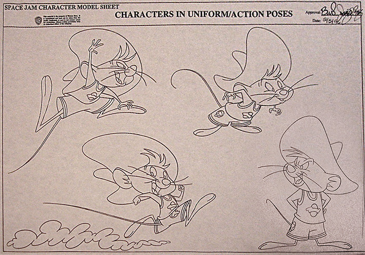 speedy gonzales model sheet