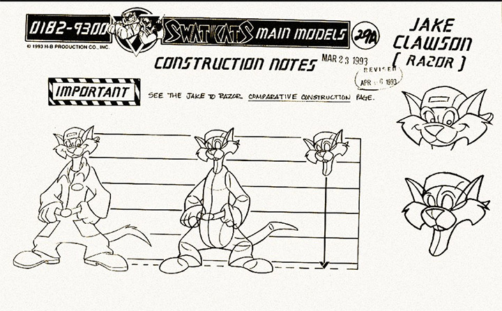 swat kats model sheet