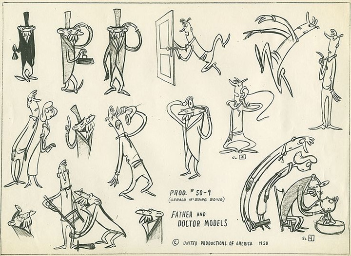 Gerald McBoing-Boing father doctor model sheet