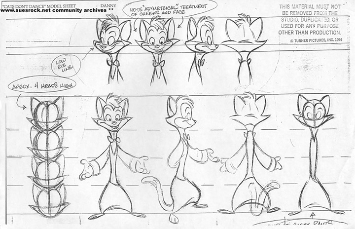 cats dont dance model sheet