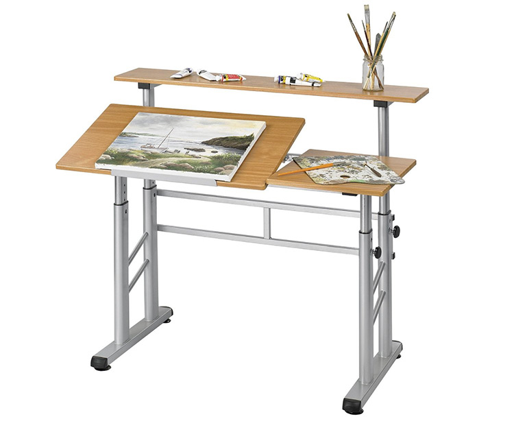 Best art desks drafting tables for artists for Ikea drafting table with lightbox
