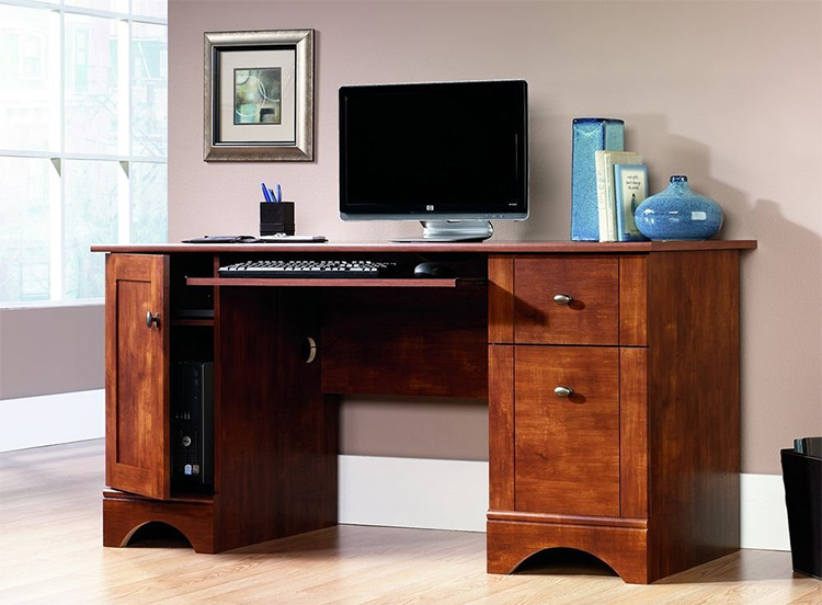 sauder maple desk