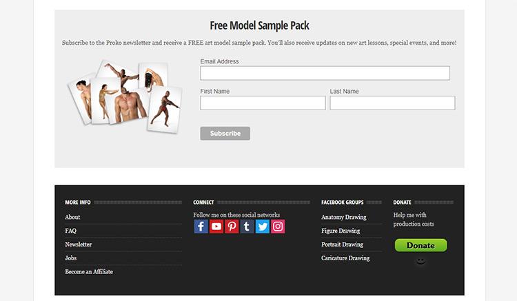 Free Proko gesture pose photos pack