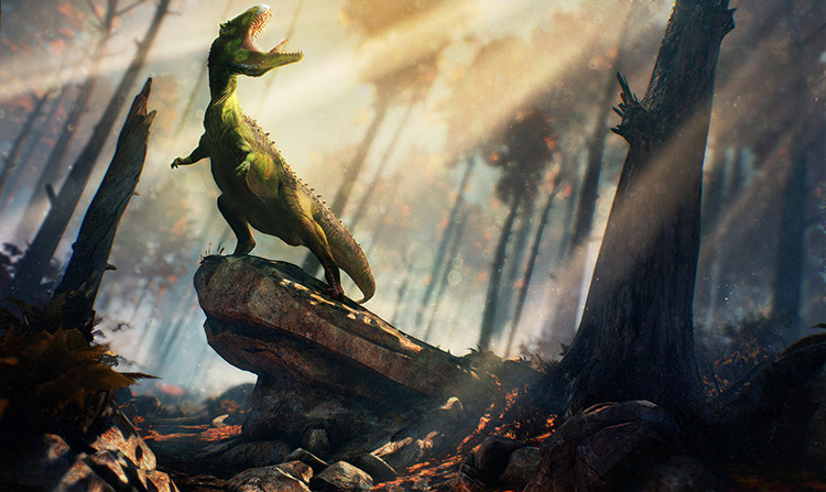 beast dinosaur creature prehistoric concept art