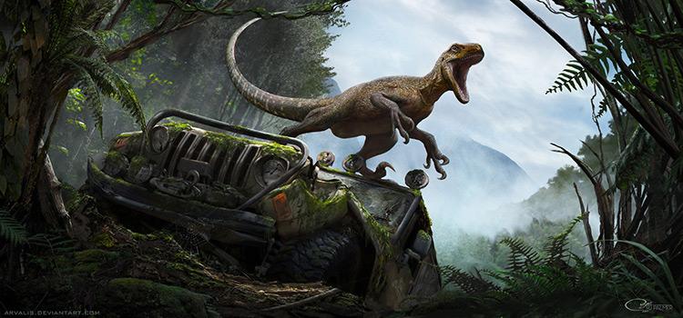 dinosaur magnaraptor creature art concept game