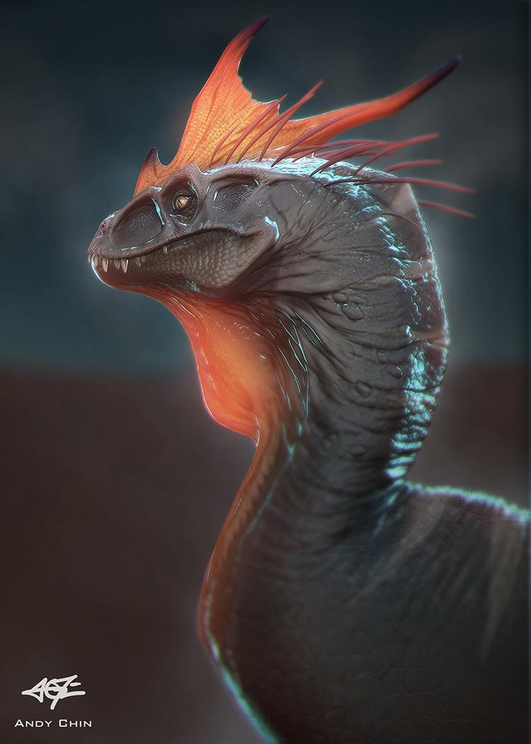 dinosaur raptor crest concept art