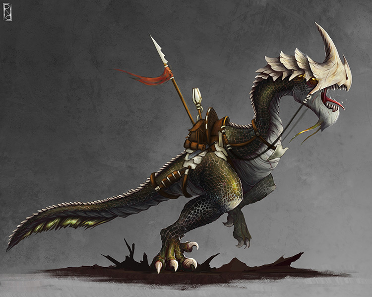dinosaur monster mount creature concept art