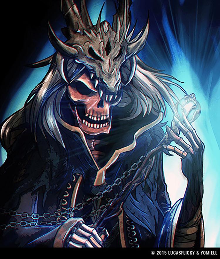 lich fantasy skeleton art illustration concept