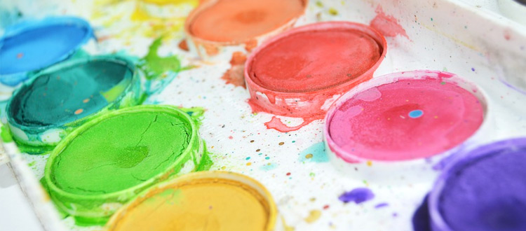 watercolor paints tray