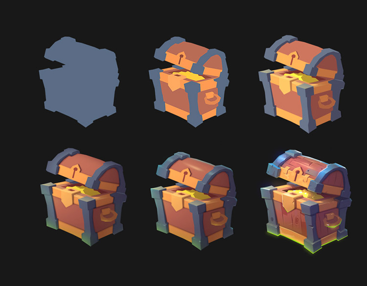 treasure chest concept game art