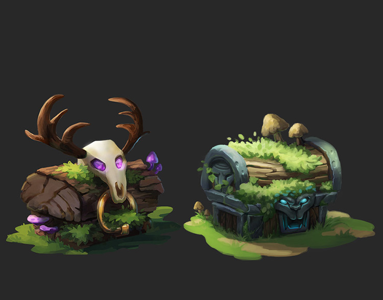 chest forest druid art concept