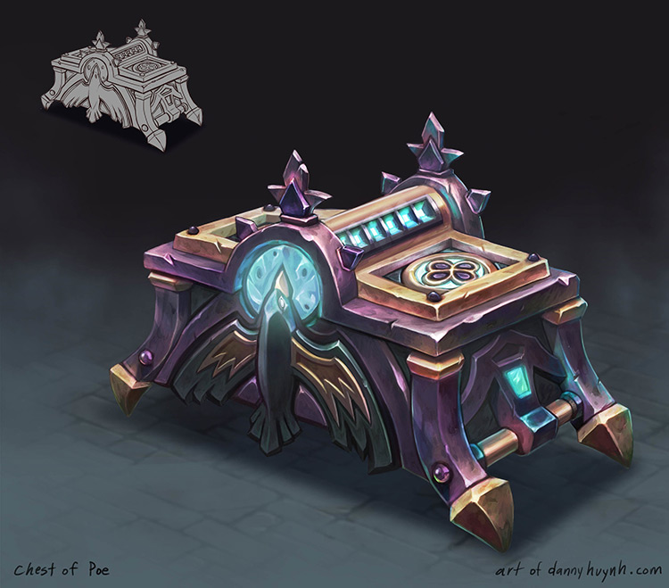 chest tomes poe holder art concept