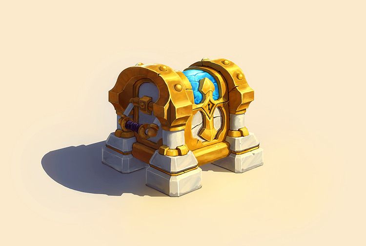 chest treasure paladin art concept