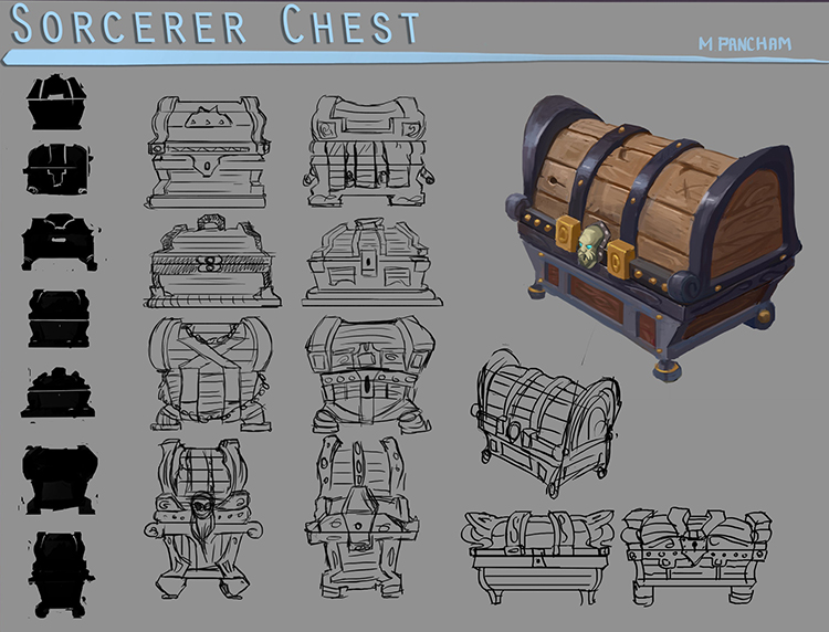 sorcerer chest design art concept