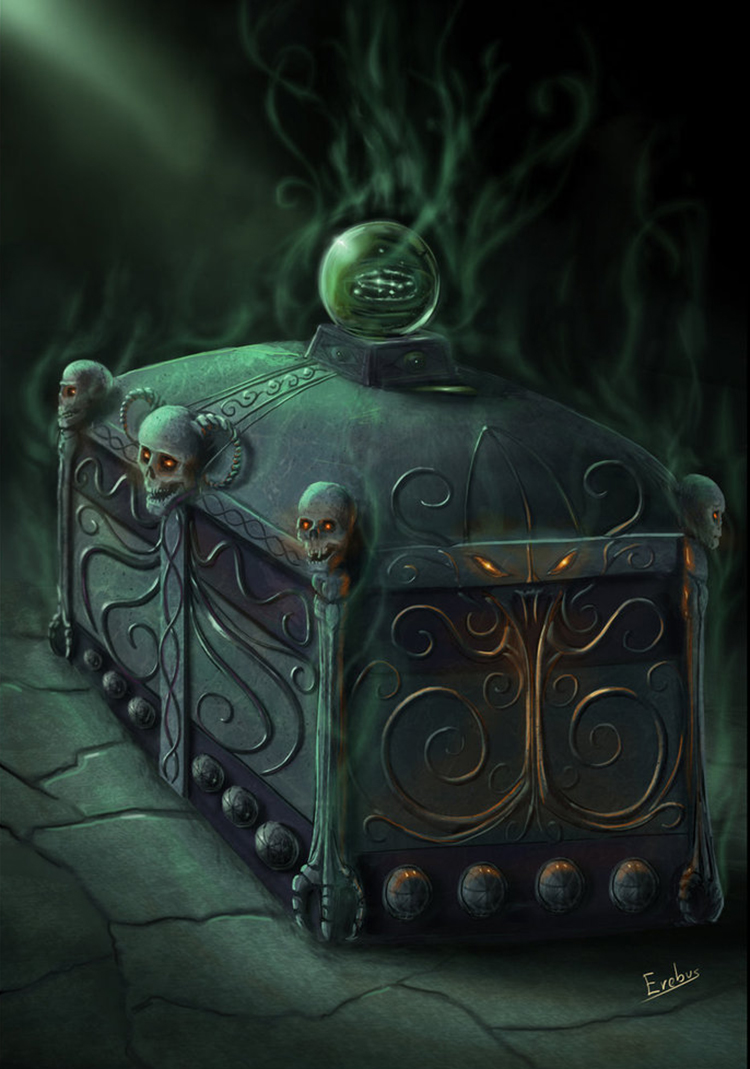 chest curse treasure fantasy art