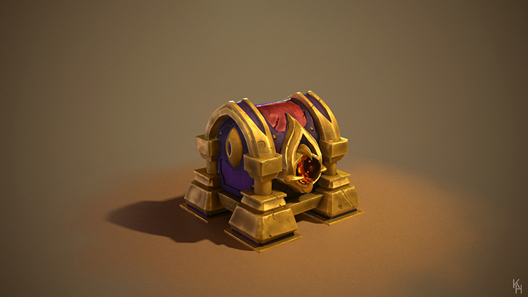 treasure wizard's chest art design concept