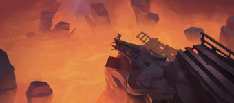 Fiery Volcano Environment Concept Art Gallery