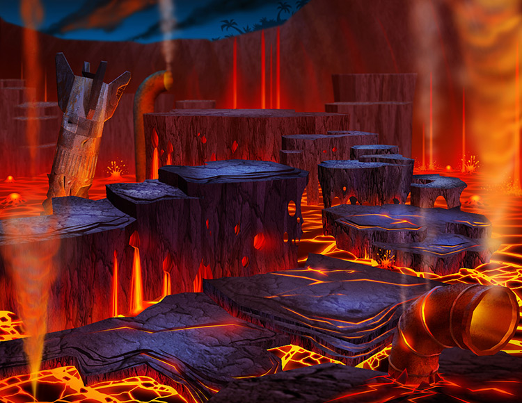 volcano lava junkyard magma concept art