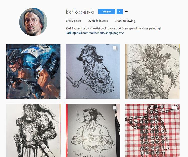 Karl Kopinski Instagram