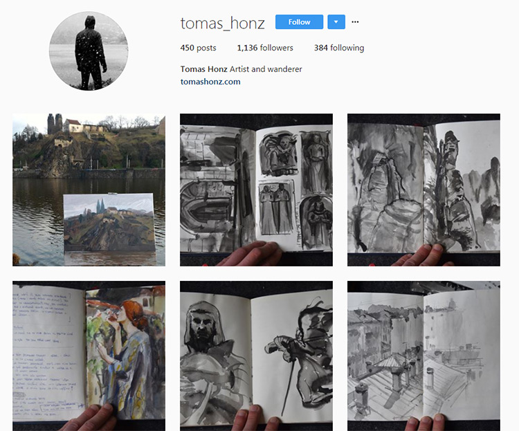 Tom Honz art Instagram