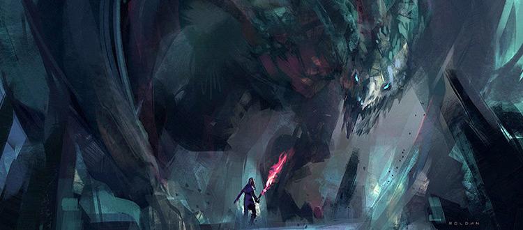 Dragon creature concept art