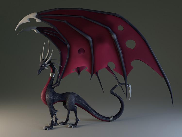 dragon character creature art concept